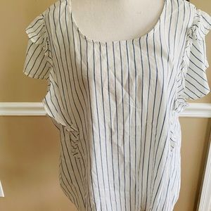 Old Navy Tops - Old navy white with blue stripe top new with tags